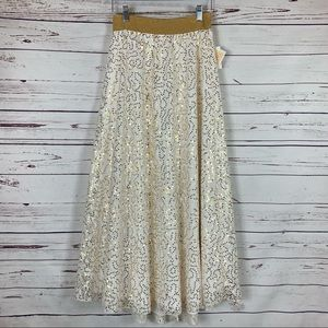 LLR Lucy Limited Edition Sequin Maxi Skirt XS NWT
